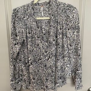 FreePeople Floral Blouse